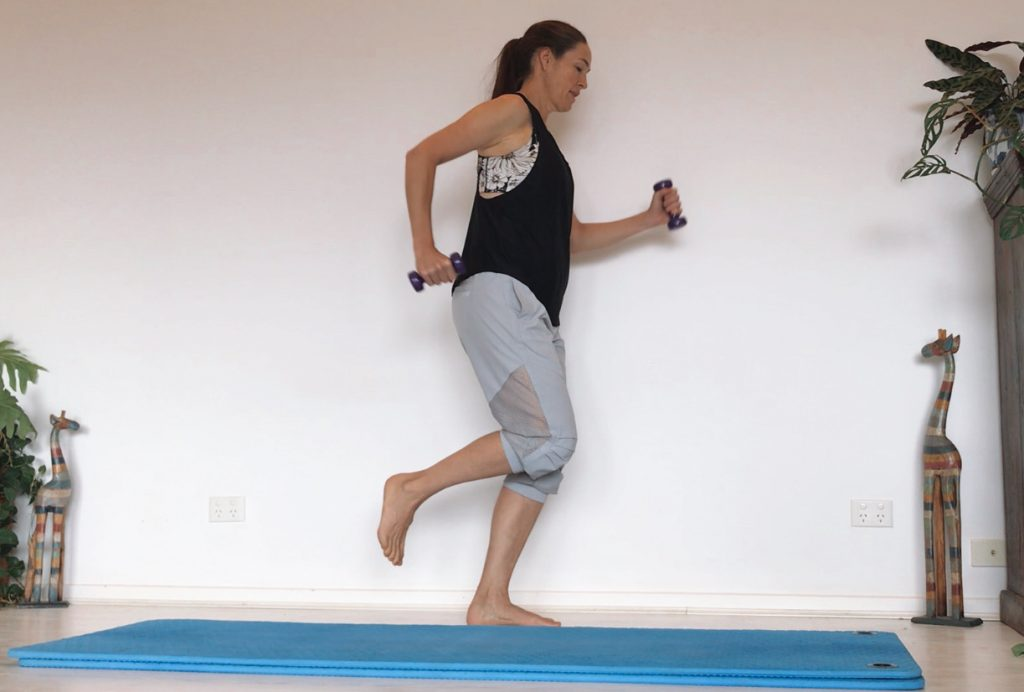 Pilates With Hand Weights