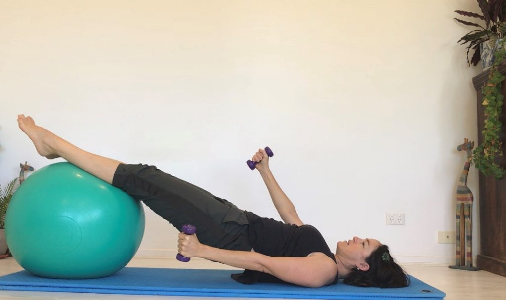 Fit Ball & Hand Weights Combo